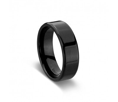 Men's All Black Zirconium Ring