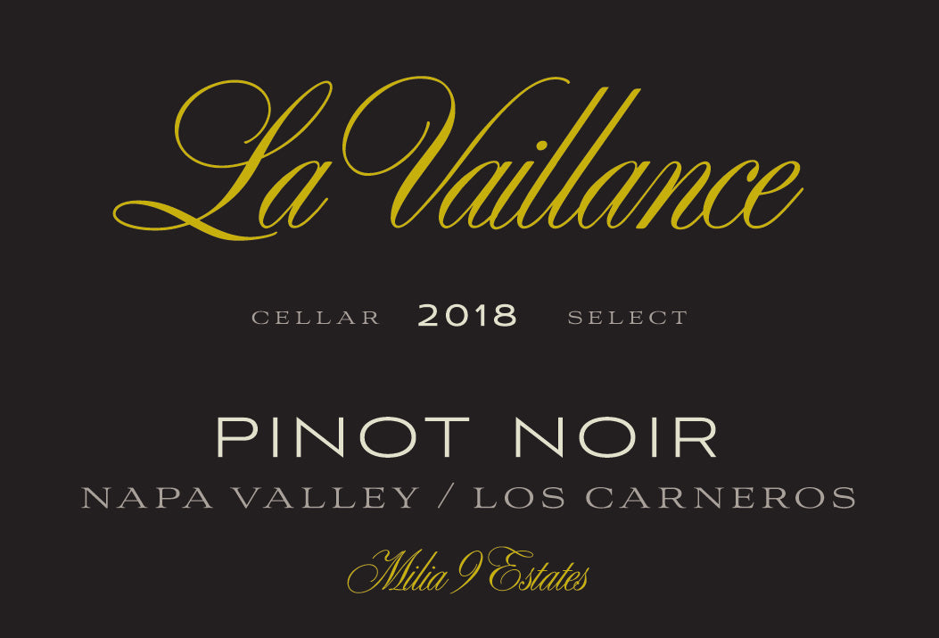 La Vaillance Milia 9 Estates Napa Valley Pinot Noir