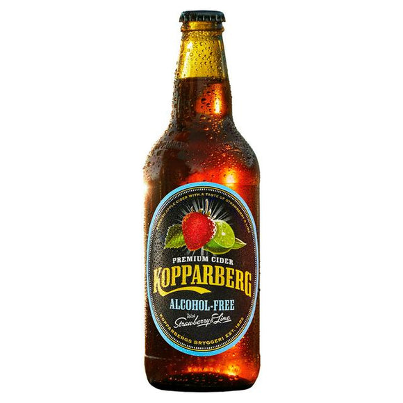 Kopperberg Strawberry & Lime Alcohol Free Cider 500ml