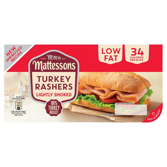 Mattessons Smoked Turkey Bacon 200g