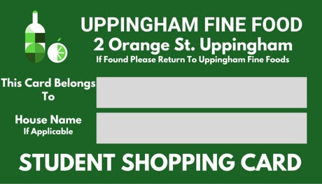 Student Shopping Card