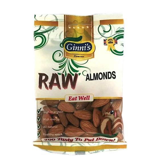 Ginni's Raw Almonds 50g