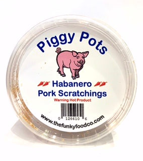 Funky Food Pork Scratchings Habanero Flavour 100g