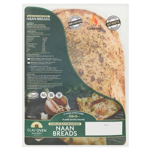 The Clay Oven Bakery Garlic & Coriander Naan Bread 360g