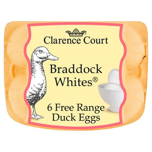 Clarence Court Free Range White Duck Eggs 6/Pack