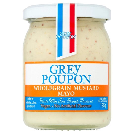 Grey Poupon Wholegrain Vegan Mayonnaise 195g