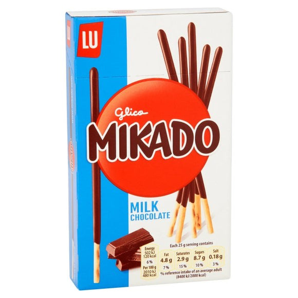 Glico Mikado Milk Chocolate Biscuits 75g