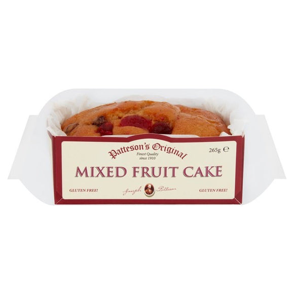 Patteson's Original Gluten Free Mixed Fruit Cake 285g