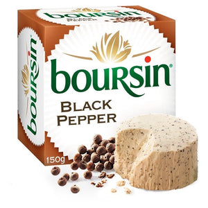 Boursin Black Pepper Soft French Cheese 150g