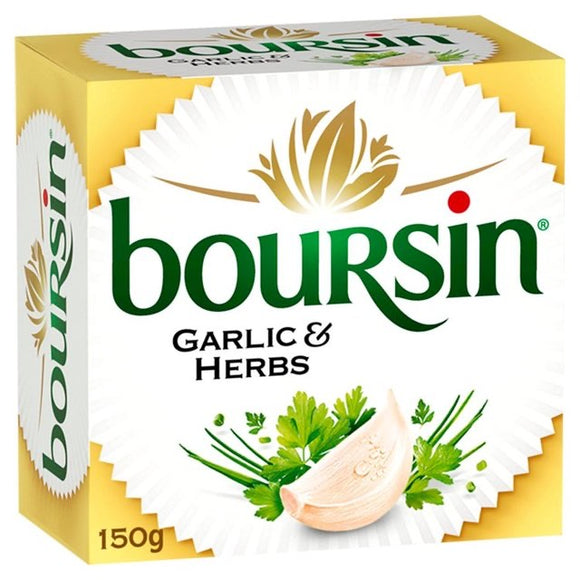 Boursin Garlic & Herbs Soft French Cheese 150g