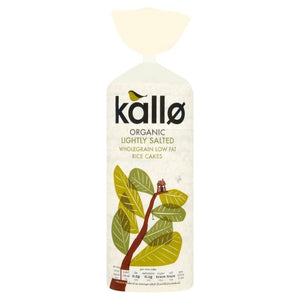 Kallo Organic Thick Slightly Salted Rice Cakes 130g
