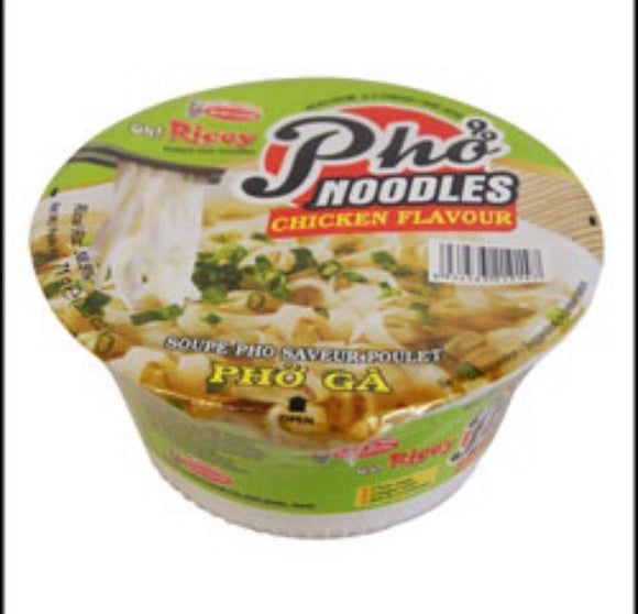 Acecook Oh! Ricey Instant Rice Noodle Bowl Chicken Flavour 71g