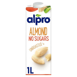 Alpro Unsweetened Almond Milk 1L