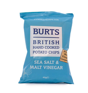 Burts Crisps Sea Salt & Malt Vinegar 40g