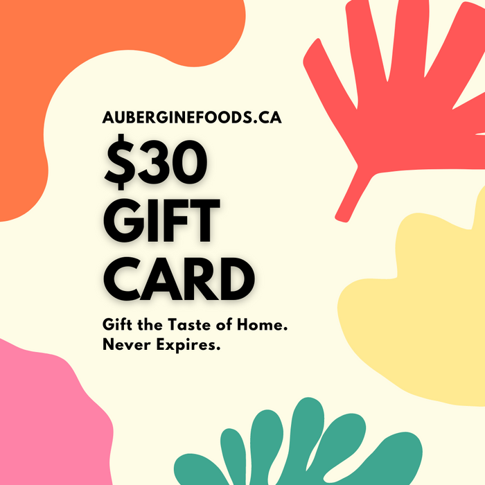 AubergineFoods.ca Gift Cards