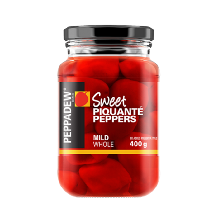 Peppadew Mild Piquante Peppers Whole (400 g) from South Africa - AubergineFoods.com