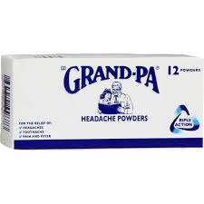 Grand-Pa Headache Powder (12-Powders) from South Africa - AUBERGINE FOODS Canada