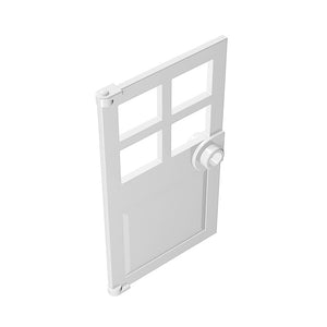 Door 1x4x6 with 4 Panes and Stud Handle #60623