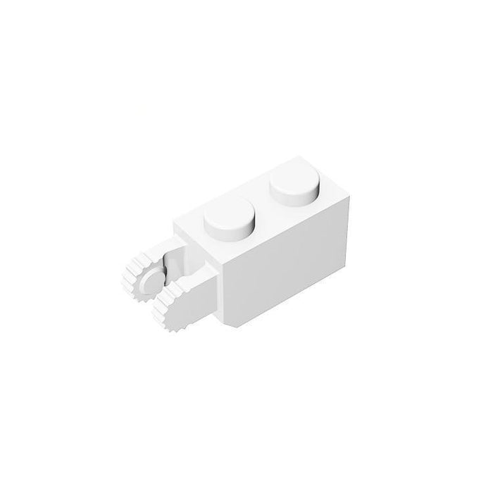 Hinge Brick 1x2 Locking with 2 Fingers Vertical End #30365