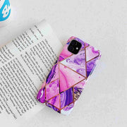 Pourpre Geometric Marble Phone Case - Gadgets Center