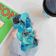 Blue Geometric Marble Phone Case - Gadgets Center