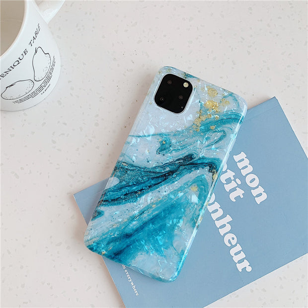 Conch Shell Marble Case - Gadgets Center