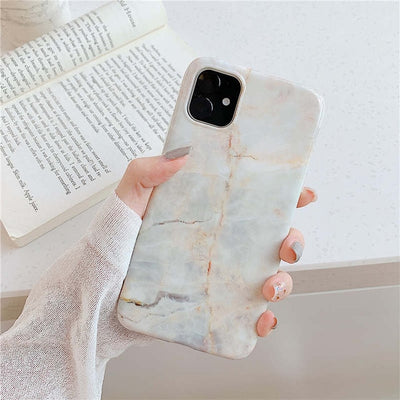 Grey Marble Slim Shockproof Case - Gadgets Center