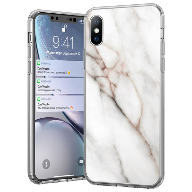 White Marble Stone Texture Case - Gadgets Center