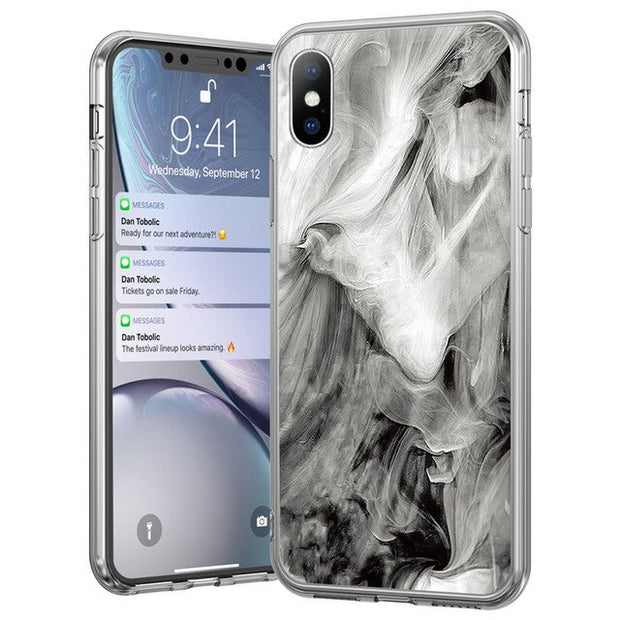 Grey Marble Stone Texture Case - Gadgets Center