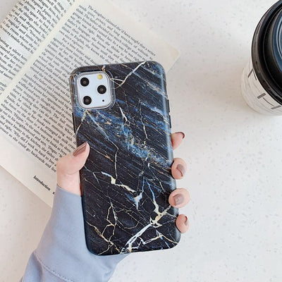 Black Matte Marble Case - Gadgets Center