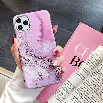 Pink Granite Marble Cases - Gadgets Center