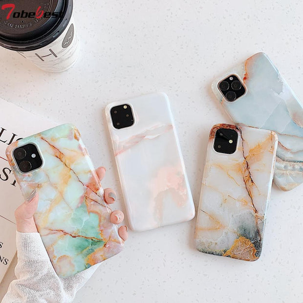 Glossy Jade Marble Phone Cases - Gadgets Center