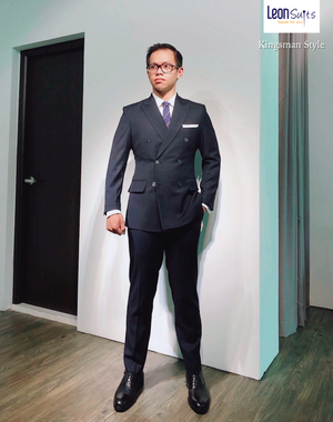 Custom Made 'Kingsman' Double-breasted Suit