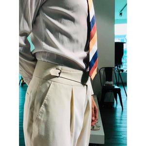 Custom Made Standard Beige Classic Highwaist Trousers