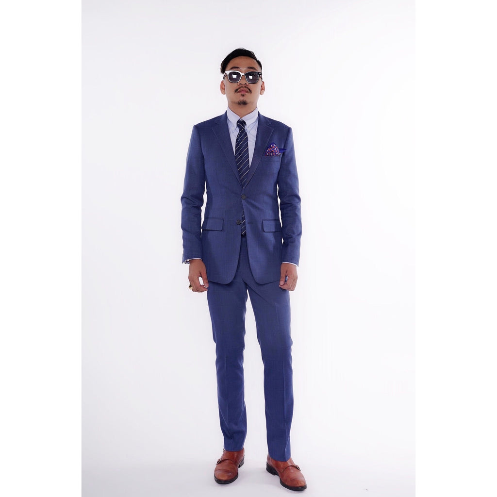 RTW CONTEMPORARY Navy Thin Windowpane