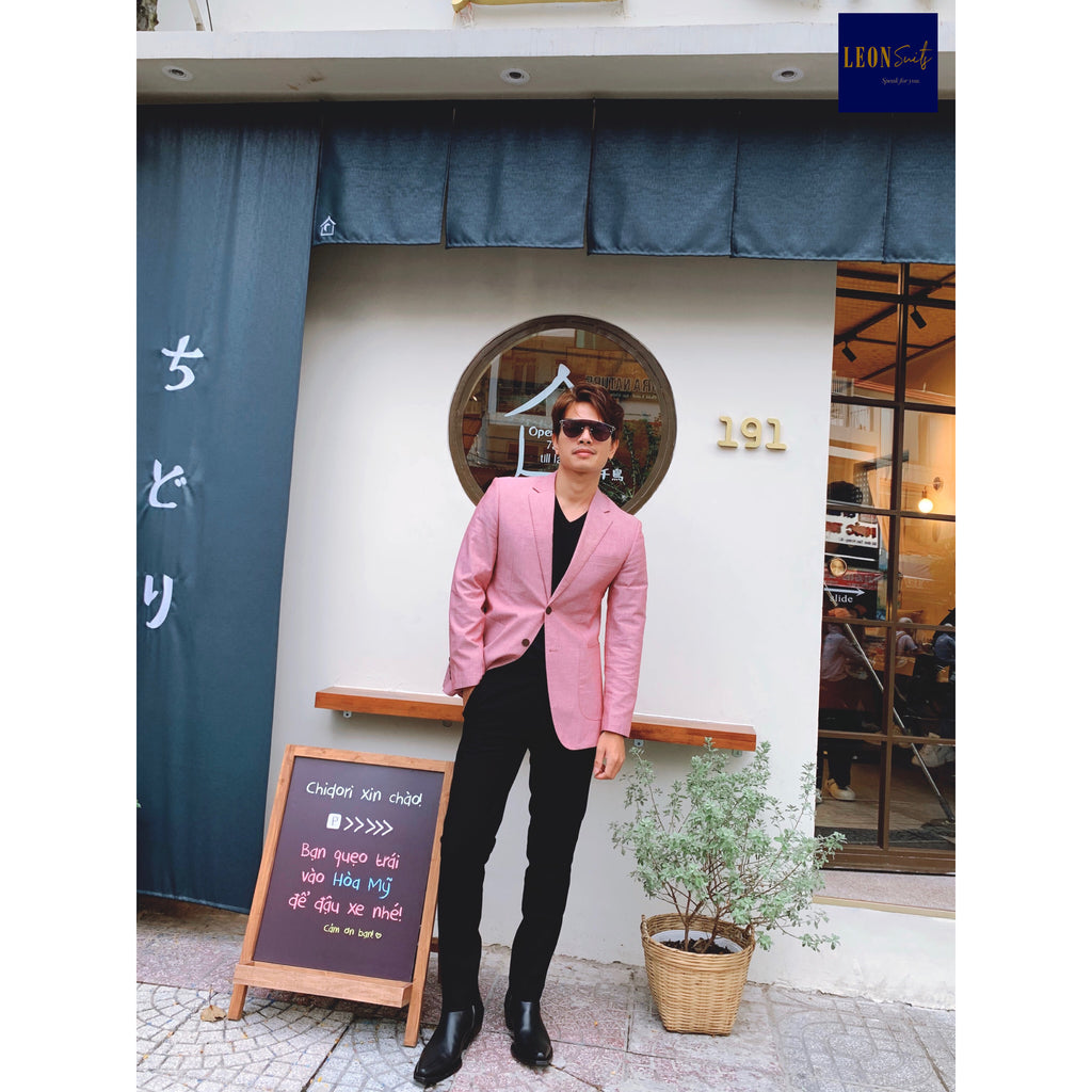 Tropical Pink Cotton Blazer