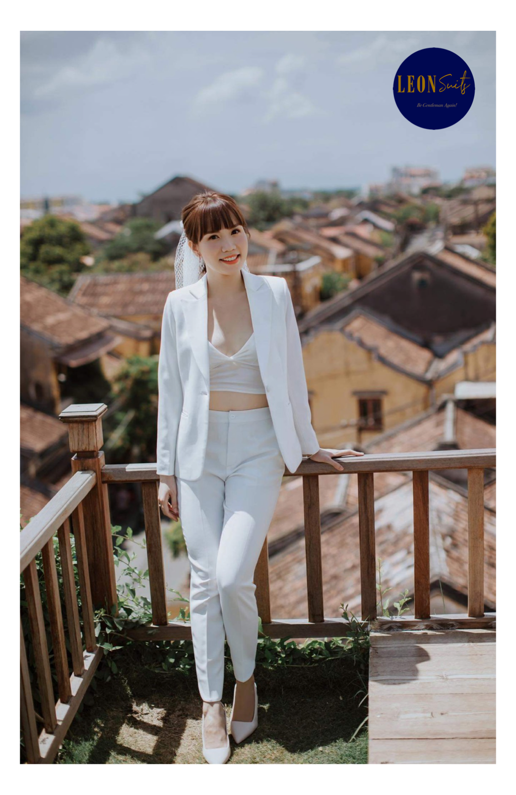 White Wedding Lady Suit