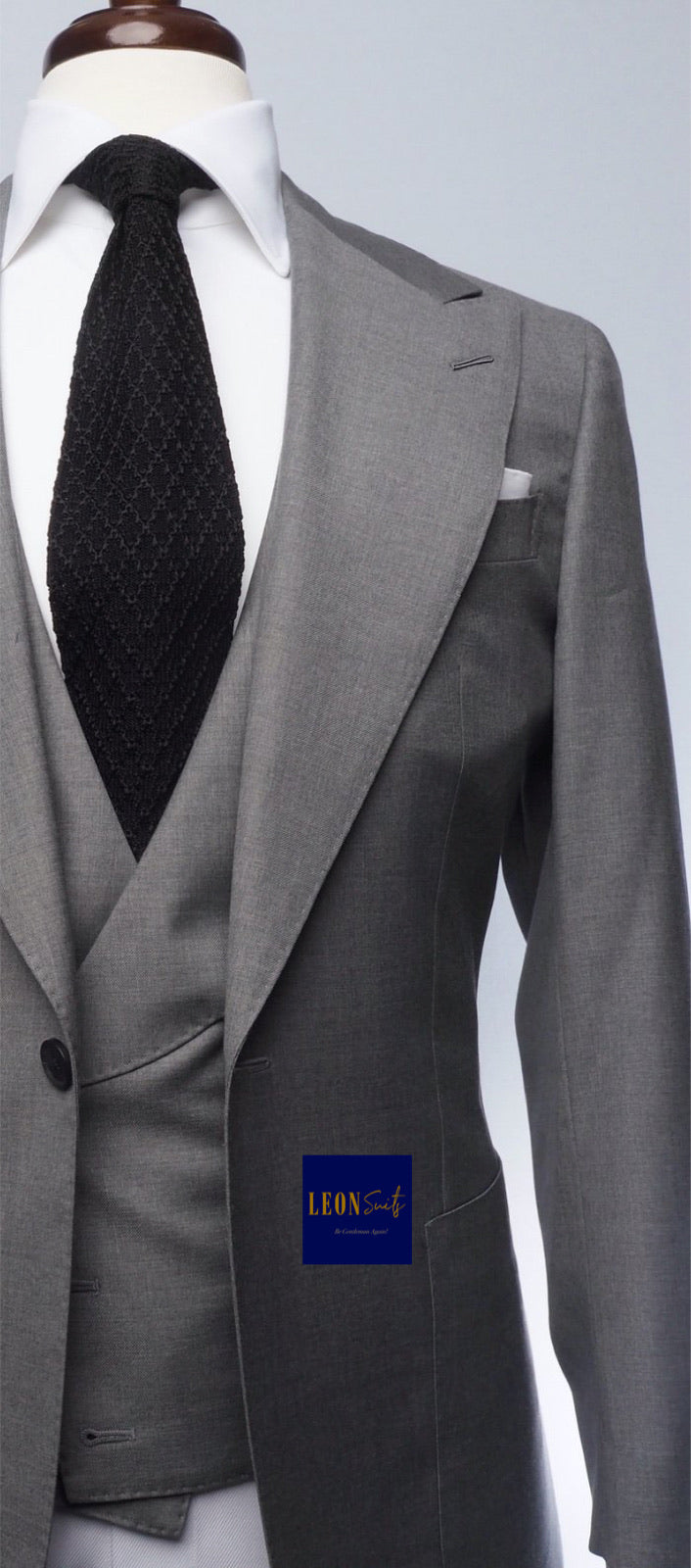 Premium Bespoke Grey 3-Piece Suit