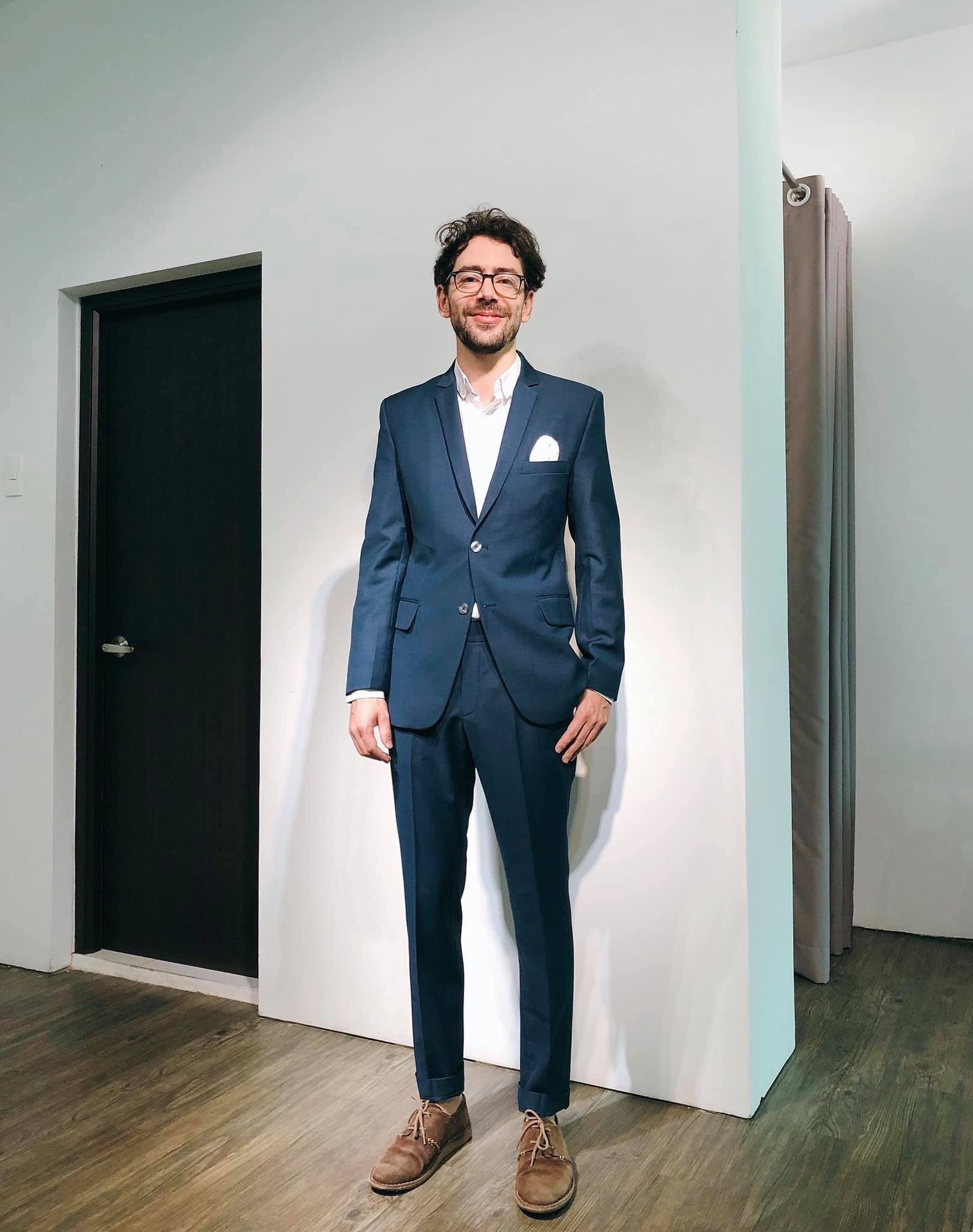 Standard Custom Made 'Art Director' Navy Single-breasted Suit