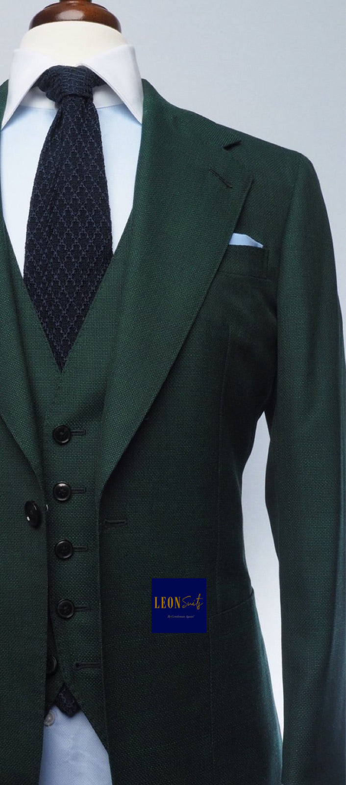 Premium Bespoke Green 3-Piece Suit