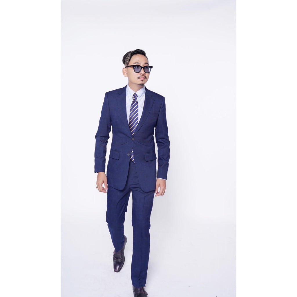RTW CONTEMPORARY Navy Windowpane