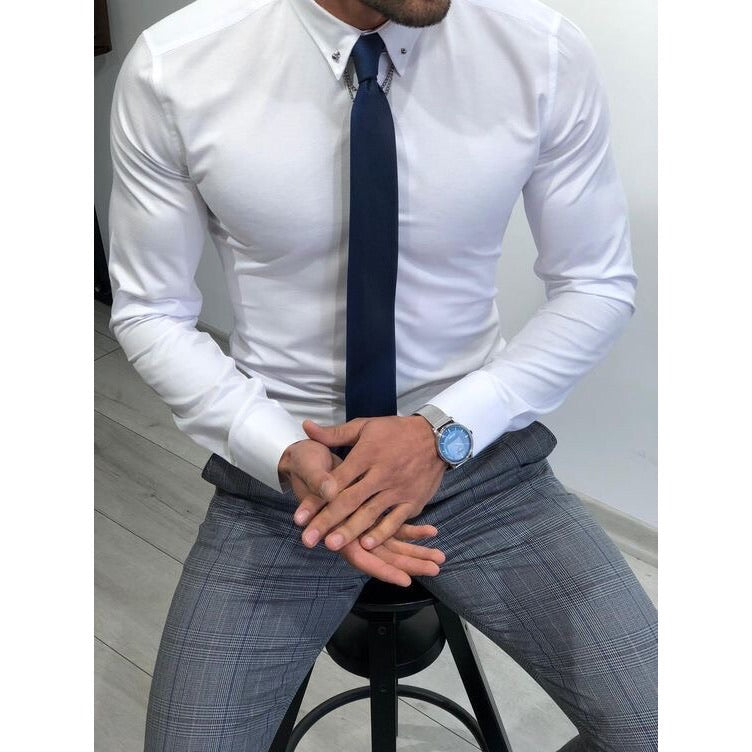 Custom Made Slim Fit White Shirt