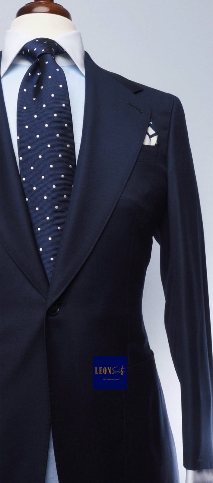 Premium Dark Navy 2-Piece Suit