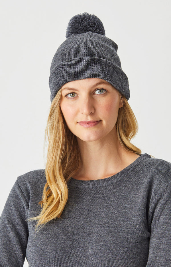 Merino Essential Beanie with Pom Pom
