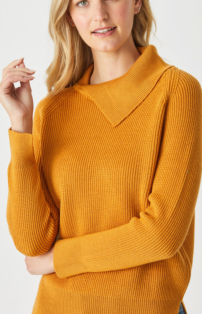 CC Raglan Fold Collar Sweater