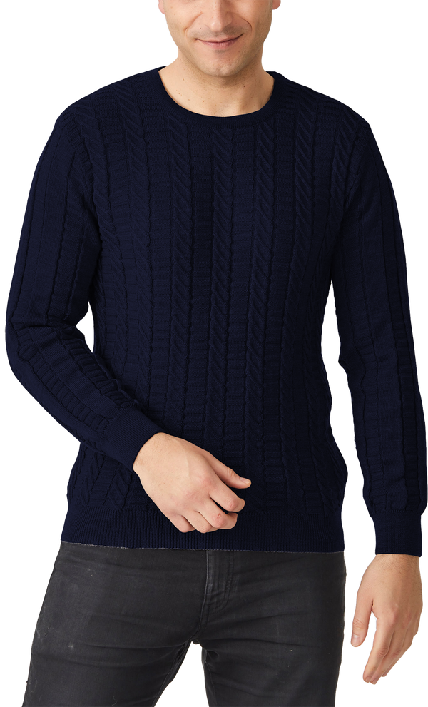 Spencer Vertical stich crew sweater - Aklanda Australia