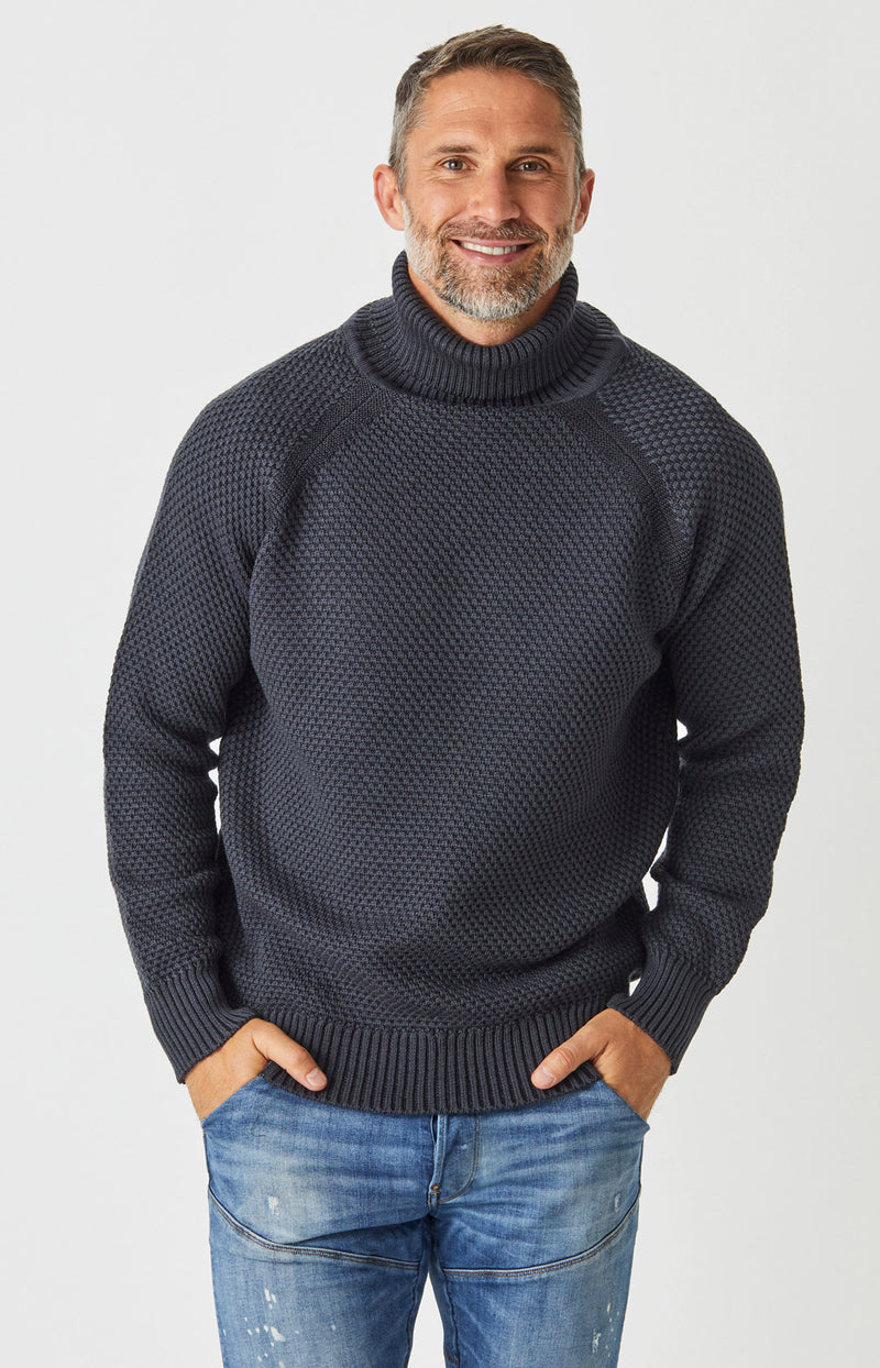 Moss Platted Roll Neck Sweater