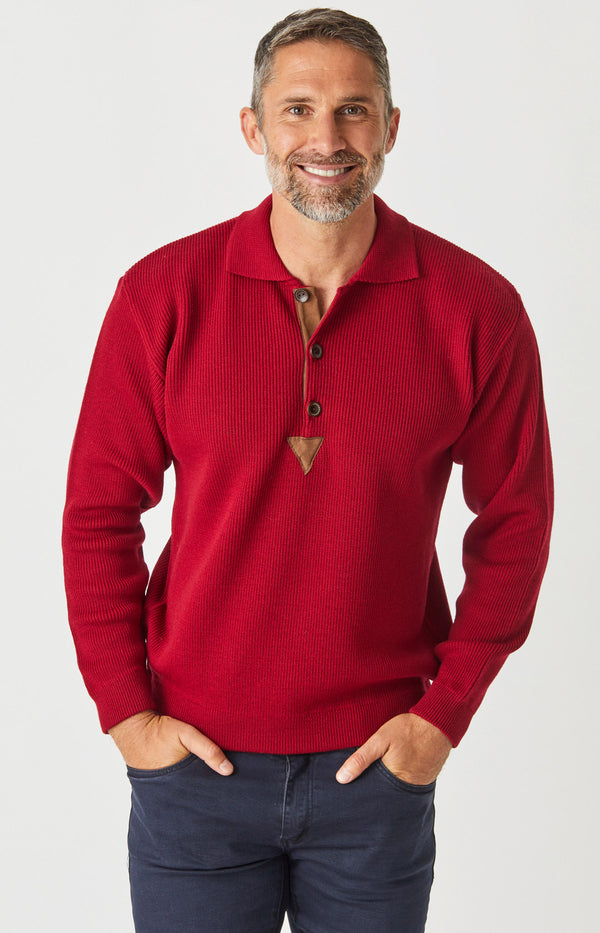 Merino Rib Knit Polo