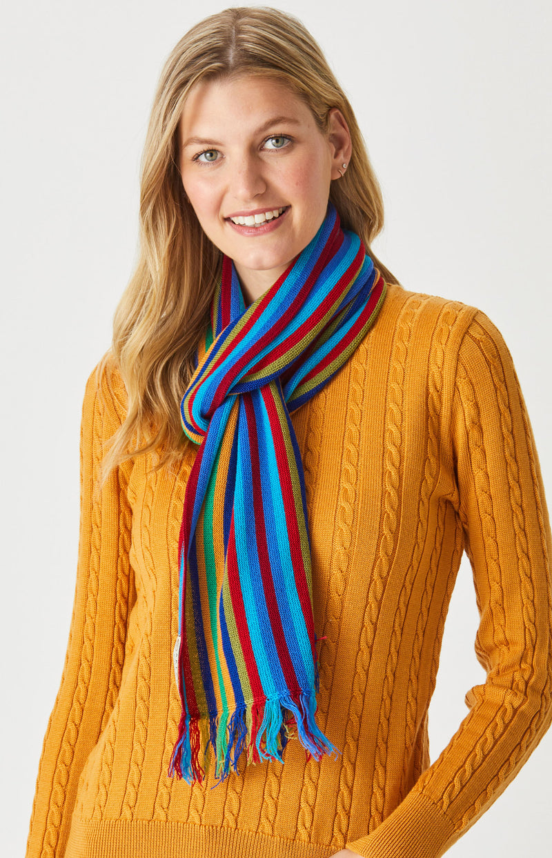 Pin stripe Scarf with Frills