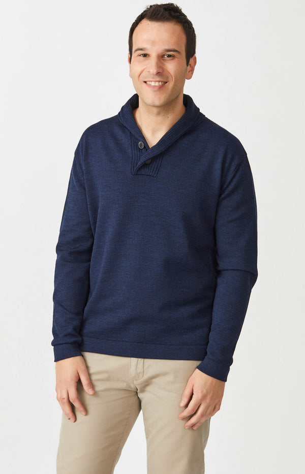 Merino AB shawl collar Sweater
